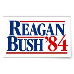 Peel And Stick Wall Stickers reagan bush 84 campaign rectangular sticker zazzle