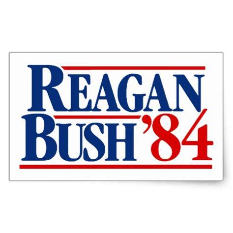 Peel Off Wall Stickers reagan bush 84 campaign rectangular sticker zazzle