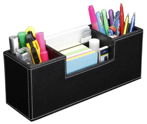 Faux Leather Desk Organizer Opentip Hipce Sdot 01 2 In 1 Faux Leather Desk Organizer And Pen Holder