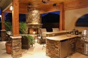 Outdoor Kitchen And Fireplace Designs by Upgrade Your Backyard With An Outdoor Kitchen