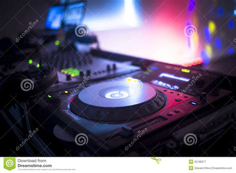 party house music dj console mixing desk ibiza house music party nightclub stock image image 55188377
