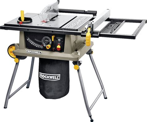 rockwell 15 10 in table saw rockwell portable table saw trolley stand 120 vac 15 a