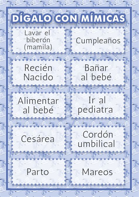 Juegos Par Baby Shower by D 237 Galo Con M 237 Micas Juegos Para Baby Shower Para Imprimir