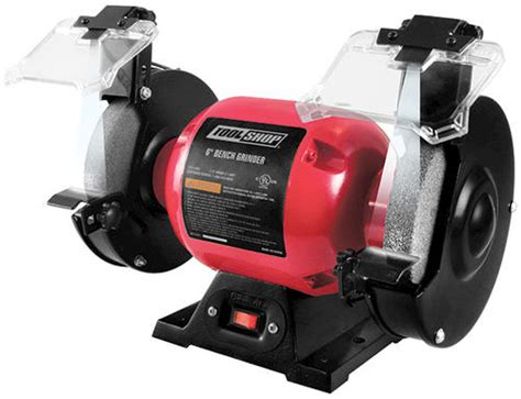 tool shop bench grinder tool shop 174 6 quot bench grinder with led work lights at menards 174