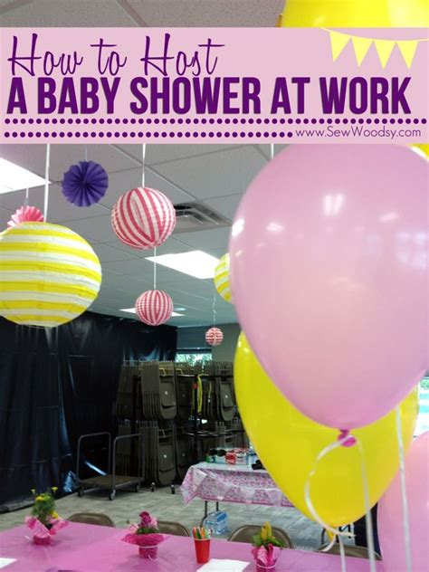 At Work Ideas - how to host a baby shower at work time