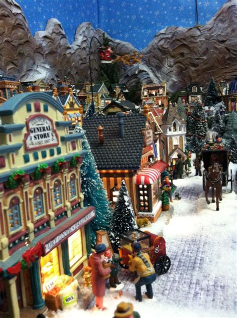 2011 lemax christmas display street view christmas snow