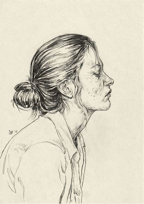 Portraits And Sketches by Best 25 Sketch Ideas On Inspiration