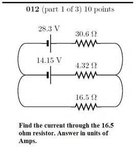 two resistors in series mastering physics find the current through 3 ohm resistor mastering physics 28 images general physics ii the