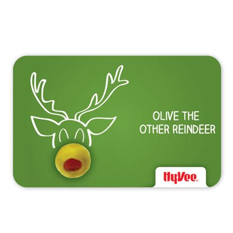 Hyvee Gift Card - shop gifts hy vee gift cards hy vee gift card olive the reindeer 284620