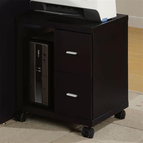 mobile printer stand with drawers arya mobile printer stand cappuccino 2 drawers shelf