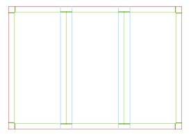 3 page brochure template trifold brochure template a4 page size landscape vector