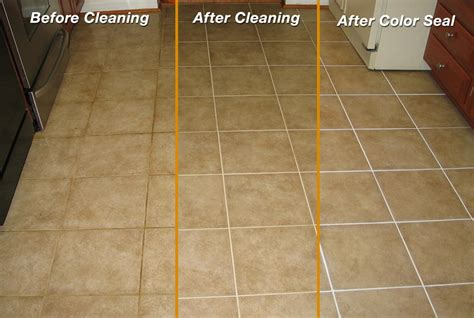 Grout Cleaning Before And After Before After Tile Grout Color Sealer Marble Polishing
