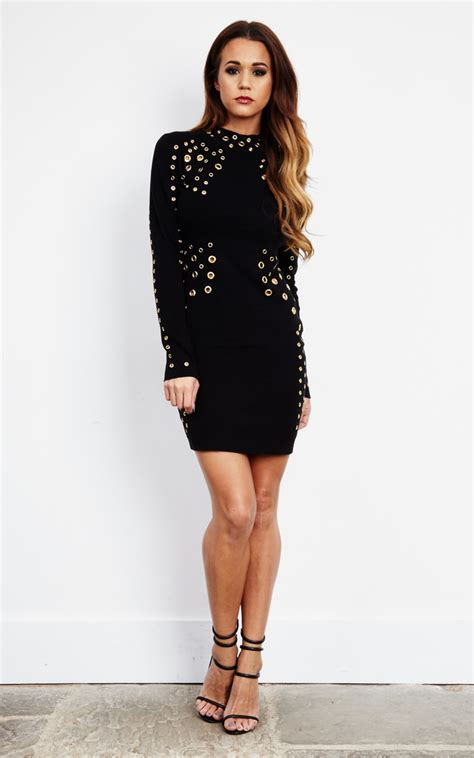 7 Ways To Wear Eyelet by Black Bodycon Eyelet Dress Silkfred