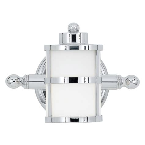 tranquil bay bathroom light fixture in polished chrome classic art deco inspired wall light in chrome with opal