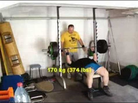 bench press 160 lbs bench press 2 x 160 kg 352 lbs 1 x 170 kg 374 lbs