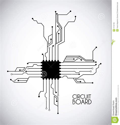 rights to layout designs of integrated computer circuits chip and circuit royalty free stock photo image 31191195
