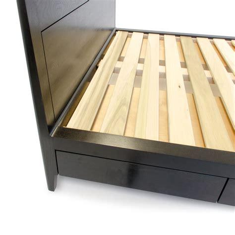 headboard slats ebonized walnut storage bed platform bed no 2