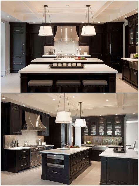 two kitchen islands double island kitchens more space more fun amazing