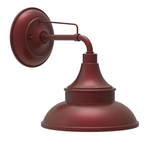 Hton Bay Colonial Red Outdoor Barn Light Wall Mount
