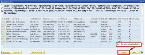 query layout design sap sap business one creating a sql query query generator