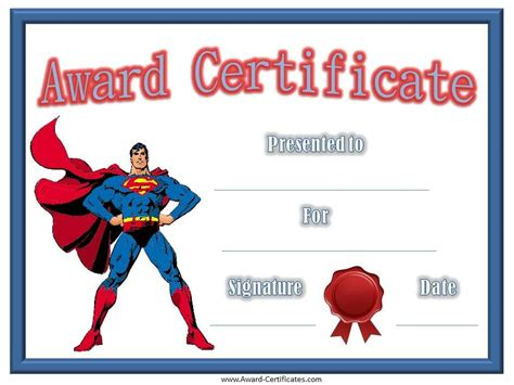 superman superpowers card template free printable templates certificates for