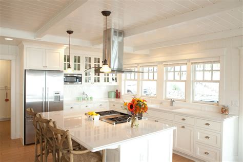 beach style beach cottage kitchen long hairstyles