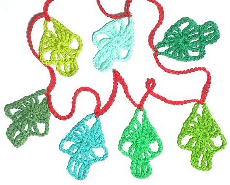 crocheted christmas tree garland ideas atty s crochet tree garland