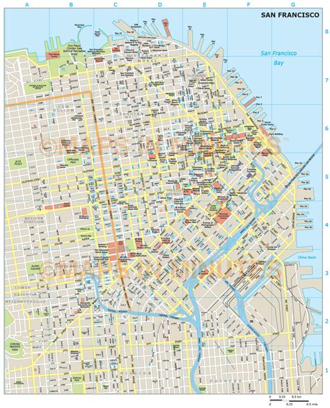 san francisco map view royalty free san francisco illustrator vector format city map