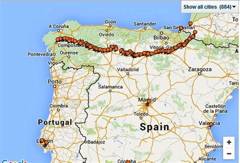 camino de santiago maps camino de santiago the map picture of camino de