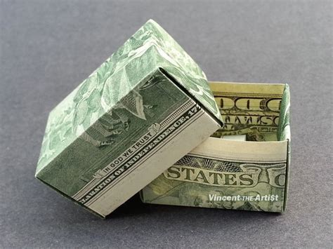 Two Dollar Bill Origami - 2 bill money origami gift box dollar bill made