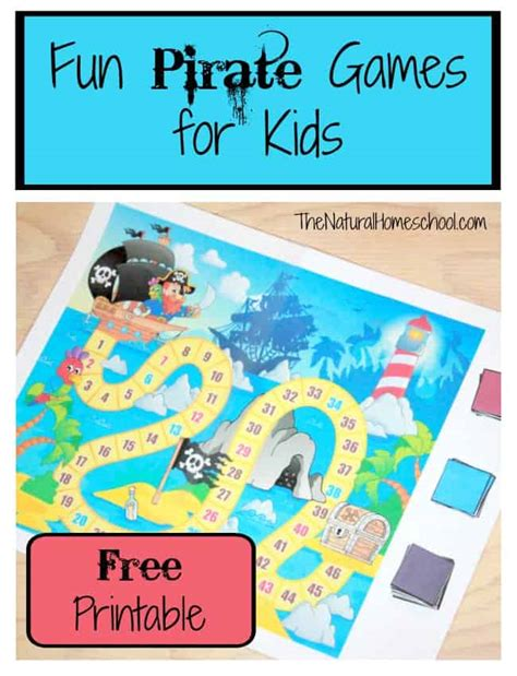 printable toddler board games fun pirate games for kids printable the natural homeschool