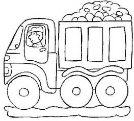Simple Dump Truck Coloring Page Images &amp Pictures  Becuo sketch template