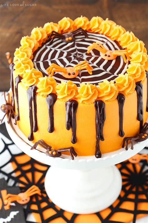 spiderweb chocolate cake  vanilla frosting halloween dessert idea