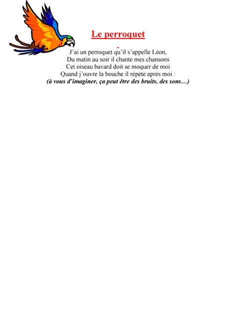 Imprimer Le Texte De La Chanson Le Perroquet Chanson