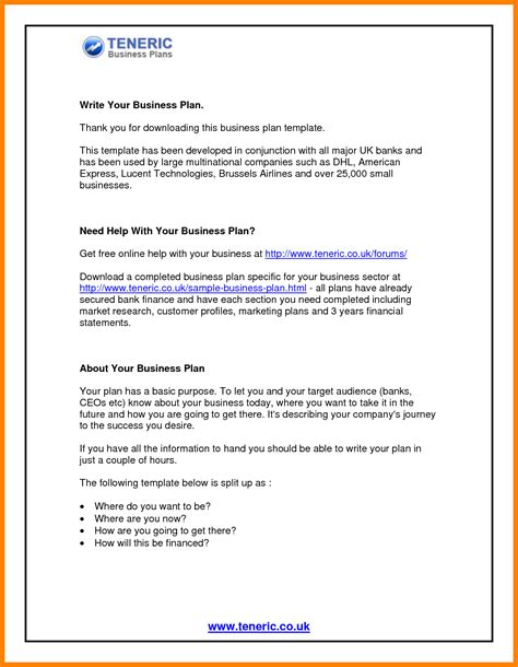 business plan template free uk 4 business template uk template 2017