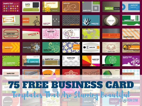 75 Free Business Card Templates That Are Stunning Beautiful Free Business Card Templates Printable