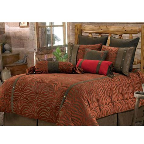 western comforter sets red zebra western bedding comforter set