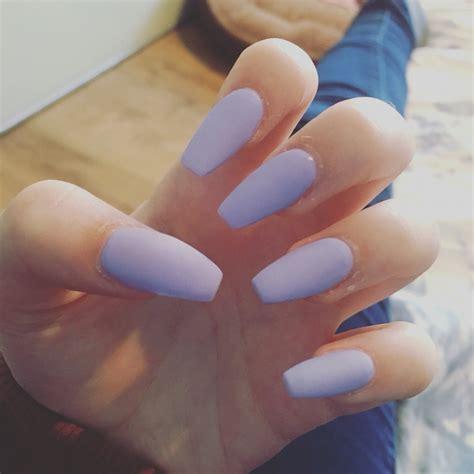 light purple nail matte light purple nails coffin shaped coffin nails