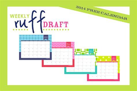 Free Printable Calendar 2014 By Anders Ruff Custom Designs Free Customizable Calendar Template