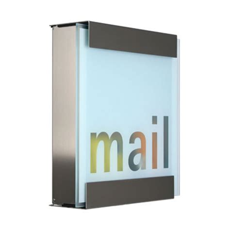 glass mail contemporary letter boxes post box mailbox
