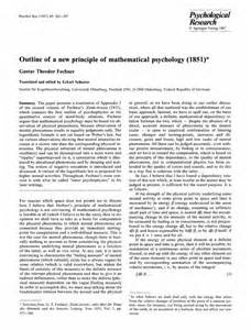 Psychology Research Paper Outline Outline Of A New Principle Of Mathematical Psychology