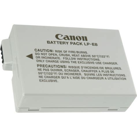 Canon Battery Lp E8 Original canon lp e8 rechargeable lithium ion battery pack original