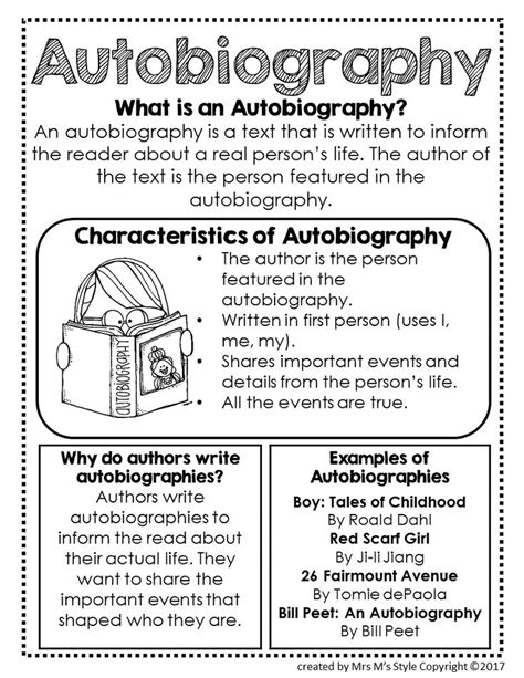 lesson plan on biography writing the 25 best ideas about autobiography writing on