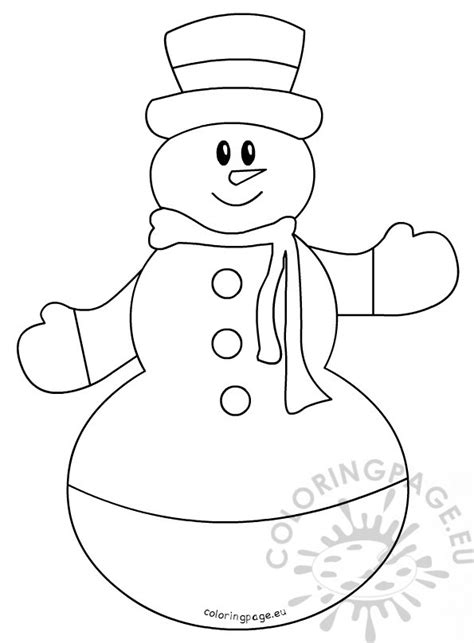 large snowman coloring page childrens coloring pages snowman with hat and scarf