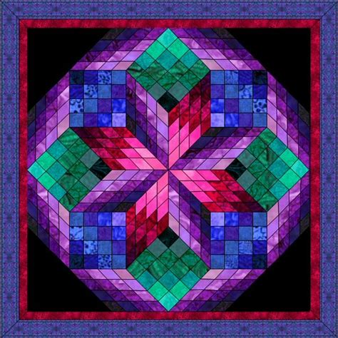 Cathedral Quilt Pattern by It Looks Like A Cathedral Window Quilt Patterns I Like