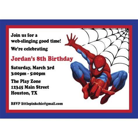 printable spiderman birthday invitation designs spiderman birthday party on pinterest