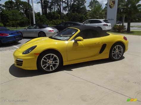 yellow porsche boxster racing yellow 2013 porsche boxster standard boxster model