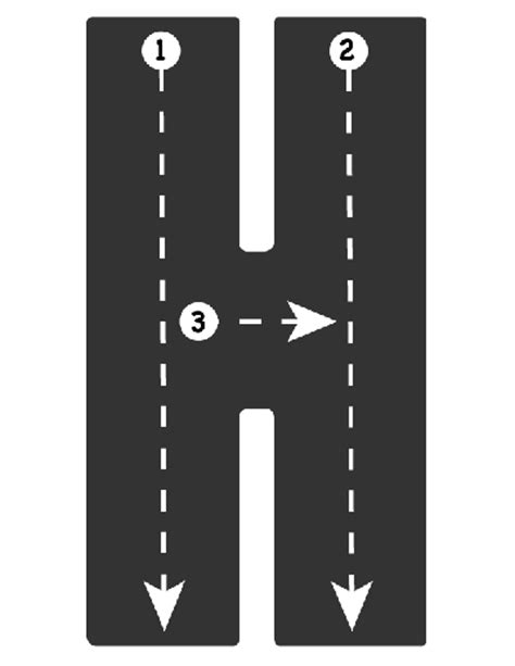 printable road letters drive the alphabet highway tracing roads letter h road
