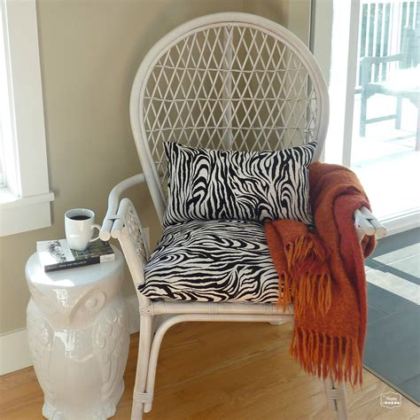 Chair Makeover by Thrifted Rattan Chair Makeover The Big Indecision And