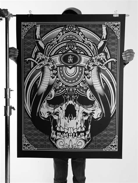 tattoo paper manila 058 oversized silk screen prints on behance